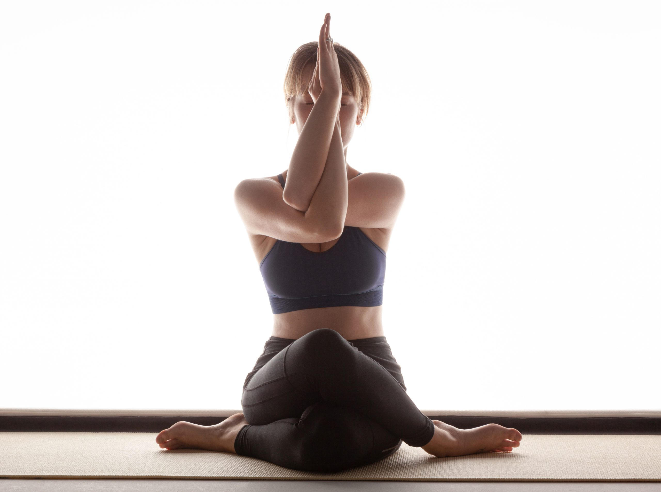 Yoga Adlerarme Asana Fotografie Würzburg