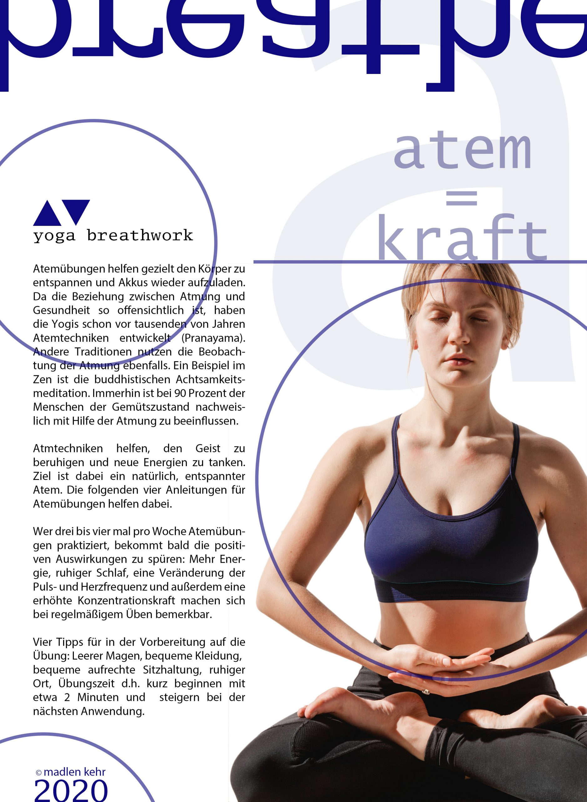 Yoga Layout Grafikdesign Gestaltung Fotografie