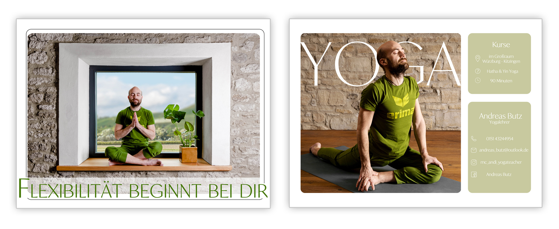 gestaltung flyer yoga fotografie business
